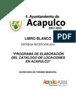 Lb Sectur Catálogo de Locaciones Acapulco