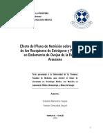 Efecto del Plano de Nutrición sobre la Expresión de los Receptores de Estrógeno y Progesterona en Endometrio de Ovejas de la Raza Criolla Araucana