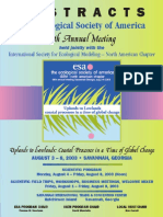 ABSTRACTS the Ecological Society of America 88thannual Meeting