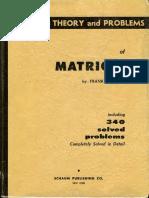 MATRICES teoria y problemas
