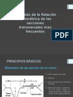 Formulas de La Relación Geométrica de Las Secciones