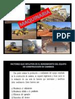 factores que influyen en el rendimiento del equipo de construcción de caminos