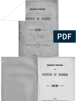 Reglamento Provisional Hospicio de Insanos (1897)