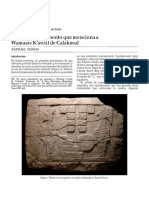 Un nuevo monumento que menciona a Wamaaw K'awiil de Calakmul