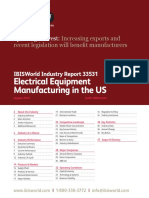 Electrical Equipment Manufacturing in the US Industry Report