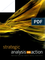 Strategic Analysis and Action 7th Edition Textbook