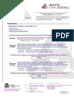 Certificat Resistancefeu E90AFITI 2 Rejiband Pemsa