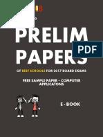 Computer Applications Sample Prelim Paper