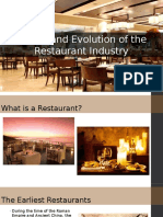History and Evolution of the Restaurant Industry