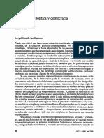 Modernidad Politica y Democracia