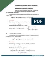 Anexo1 Logaritmos Propriedades Mudanca de Base e Cologaritmo