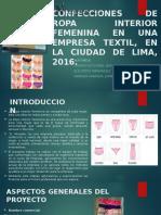 Confecciones de Ropa Interior Femenina en Una Empresa
