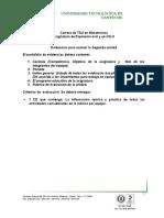 Rubrica de La II, Unidad Eoye 2015.