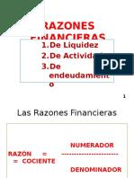 Razones Financieras de Liquidez