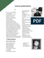 20 poemas guatemaltecos