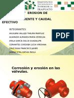 Corrosión y Erosión en Las Válvulas