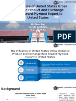 The Influence of United States GDP  and Exchange Rate toward Plywood Export to United States