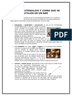 Tipos de Utensilios de un Bar