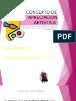Concepto de Apreciacion Artistica