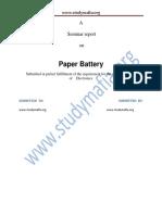 ECE Paper Battery PDF