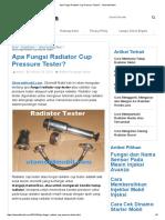 Fungsi Radiator Cup Pressure Tester_ - Otomotif Mobil