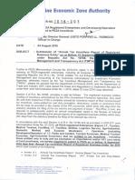 Memorandum Order No. 2016-003 - PEZA
