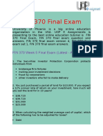 UOP E Assignments | FIN 370 Final Examination Answers Free