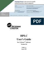 HPLC User's Guide, 32 Karat 5.0