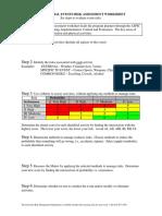 Special Events Risk Assessment Worksheet