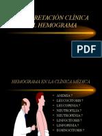 HEMOGRAMA INTERPRETACIÓN CLÍNICA.ppt