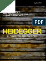Badiou, Alain y Cassin-Heidegger, El Nazismo, Las Mujeres y La Filosofía