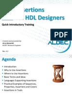 Aldec Assertions for HDL Designers