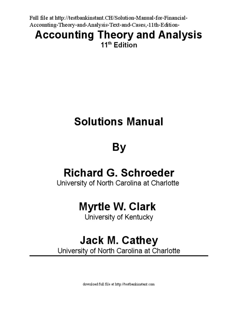 r Financial Accounting Theory and Analysis Text and Cases, 11th Edition |  Generally Accepted Accounting Principles (United States) | Financial  Accounting ...