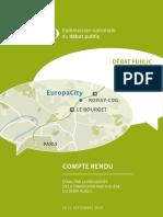 Débat Public EuropaCity - Compte Rendu Complet