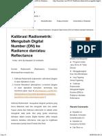 Web-Kalibrasi Radiometrik-Mengubah Digital Number (DN) Ke Radiance Dan Atau Reflectance