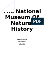 The National Museum Of Natural History.docx