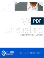Master en Dirección Contable (Titulación Universitaria + 60 Créditos ECTS)
