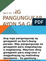 Group 3-Uri Ng Pangungusap Ayon Sa Gamit