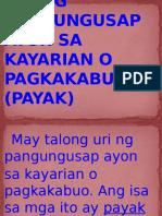 Group 3-Uri Ng Pangungusap Ayon Sa Kayarian o Pagkakabuo