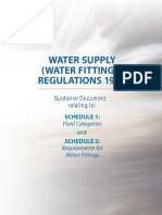 Water Supply and (Water Fittings)Regulations 1999