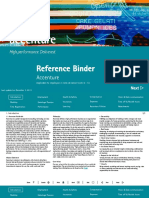 Accenture Reference Binder welcome employee