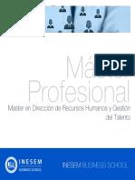 Master en Dirección de Recursos Humanos y Gestión del Talento
