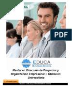 Master en Dirección de Proyectos y Organización Empresarial + Titulación Universitaria
