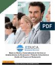 Master en Diseño y Comercialización de Servicios en Establecimientos de Restauración + Titulación Universitaria en Gestión del Proyecto de Restauración
