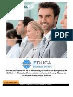 Master en Evaluación de la Eficiencia y Certificación Energética de Edificios + Titulación Universitaria en Mantenimiento y Mejora de las Instalaciones en los Edificios