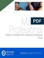 Master en Actividad Físico-Deportiva e Integración Social