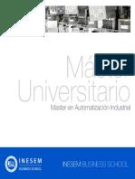 Master en Automatización Industrial (Titulación Universitaria + 60 Créditos ECTS)