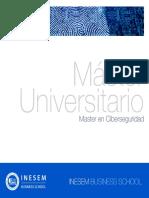 Master en Ciberseguridad (Titulación Universitaria + 60 Créditos ECTS)