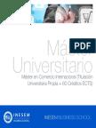 Master en Comercio Internacional (Titulación Universitaria Propia + 60 Créditos ECTS)