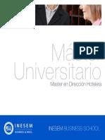 Master en Dirección Hotelera (Titulación Universitaria + 60 Créditos ECTS)